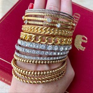 Like New Gold Mixed Boho Bangle Stack Bracelet Set